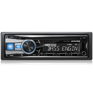 Alpine CDE-152E CD Receiver with USB and Nokia/iPod/iPhone/App Controller