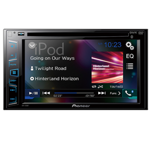 Pioneer AVH-295BT In-Dash Double DIN DVD Multimedia AV Receiver with 6.2″ WVGA Touchscreen Display , Built-In Bluetooth, and Direct Control for iPod/iPhone