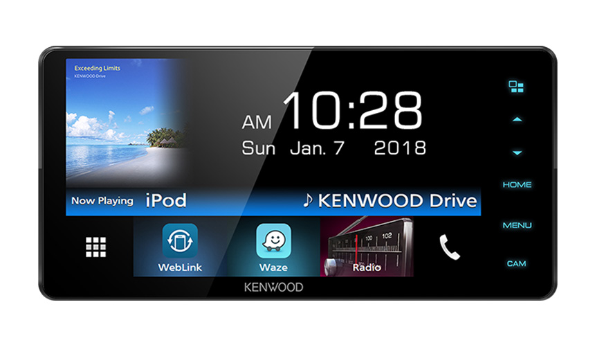 Kenwood DMX-718WBT Mechless Double-din AV Receiver with 7 0inch WVGA  Capacitive Display with Bluetooth