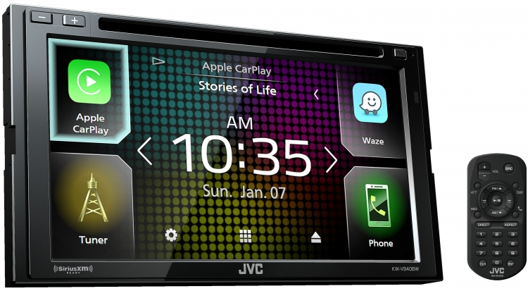 JVC KW-V940BW Double-din Multimedia Receiver featuring 6 8